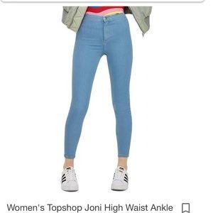 Topshop High Rise Joni Jeans